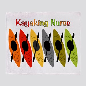 Kayaking Nurse Throw Blanket